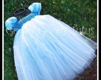 GLASS SLIPPER Sparkly Cinderella Inspired Babydoll Tutu Dress