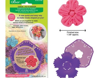 Clover Quick Yo-yo Maker Flower Shaped Small  Part No. 8706