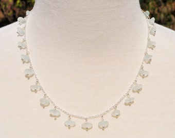 Sea Glass Jewelry Queen Strand Beach Necklace in Ice Green 1701