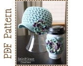 Newsboy Hat and Coffee Sleeve Crochet Pattern, 8 Sizes from Newborn to Adult, ADDISON - pdf 206, 705