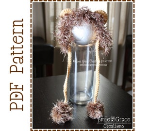 Crochet Lion Hat Pattern, Mane Bonnet, LIL' LION HEART - pdf 132