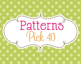 40 Crochet or Knitting Patterns Savings Pack, PDF Files, Permission to Sell Finished Items, Bundle Deal