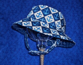 Nautical Baby Bucket Hat with Anchors 18-24 months