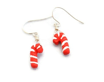 Holiday Earrings Candy Cane