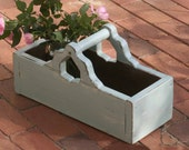 Wooden Garden Tray, Entertaining, Serving Tray, Caddy, Tote, with Handle, Indoor or Outdoor Table Display , Shabby Chic, Cottage Garden Box