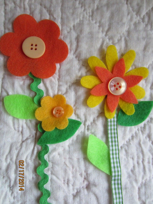 Felt flower shapes diy flower kits mothers day crafts flower for Mother s day craft kits