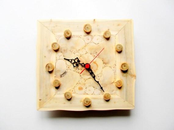 juniper wood clock handmade wall clock large wooden