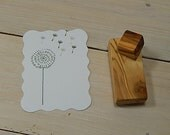Dandelion and Seed Head  Olive Wood Stamp Set (2)