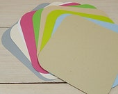 10 x Quality Large Square Shaped Flat Cards in 30% Recycled Vibrant Cardstock 14 x 14cm / 5.5 x 5.5""