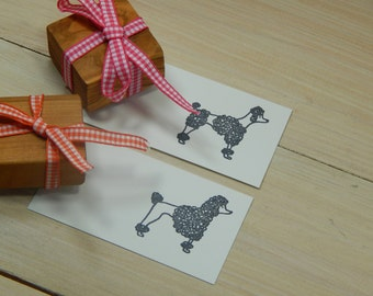 Charity Stamp Pampered Poodle Olive Wood Stamp