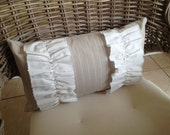 Linen ruffle lumbar pillow ***ON SALE***