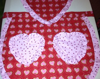 Heart ruffle apron