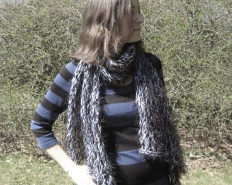 Fun Fur and Fuzz Fishnet scarf