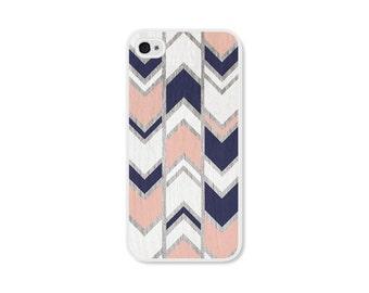 iPhone 4s Case iPhone 5s Case iPhone 4 Case iPhone 5 Case iPhone 4s Cases iPhone 5s Cases iPhone 5 Cases Peach Navy Herringbone Chevron