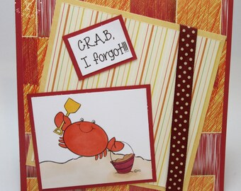 Crab, I forgot.  Belated Birthday - OOAK