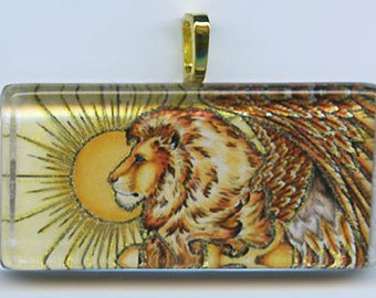 Guardian Winged Lion Pendant