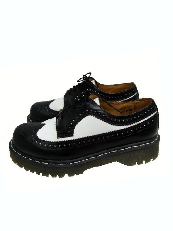 vintage dr martens shoes mens black and white by