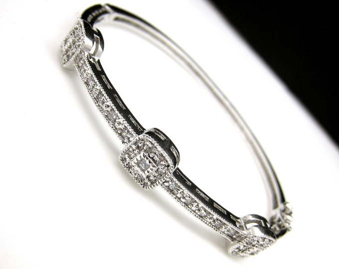 bridal jewelry bracelet prom wedding bracelet wedding jewelry pageant cubic zirconia cuff vintage style marcasite bangle bracelet