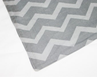 Dark Grey Chevron Waterproof Changing Pad - small
