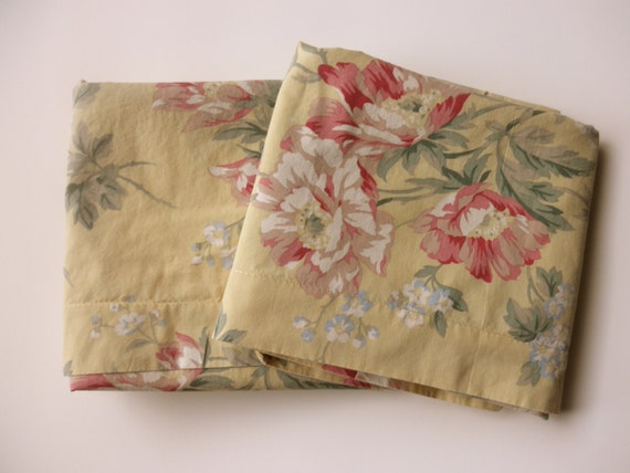 2 shabby chic pillow shams Ralph Lauren floral by JunqueDuJour