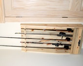 Fishing Rod Rack Built of Beetle Killed Pine