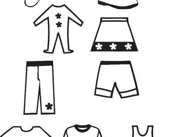 Girls' Drawer Labels - Set of 10
