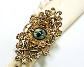 Gothic Ring Steampunk Goth Ring Creepy Eye Evil Eye Ring Gothic Romance Blue Eye Skull Ring