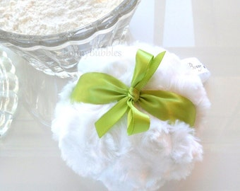 Green Powder Puff - spring green pouf - gift box option - by Bonny Bubbles