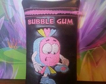 Custom leather bubblegum pipe case