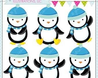 cute penguin invite place card illustration clip art to