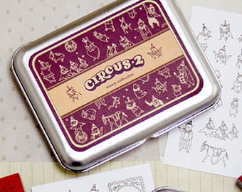 21 Set - Diy Stamps Kit Series Circus 2 (4.3 x 3.3in)