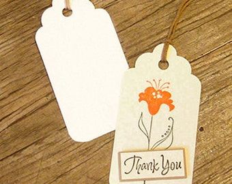 50 Round Gift Tags Ver. 2 - White (1.8 x 3.4in)