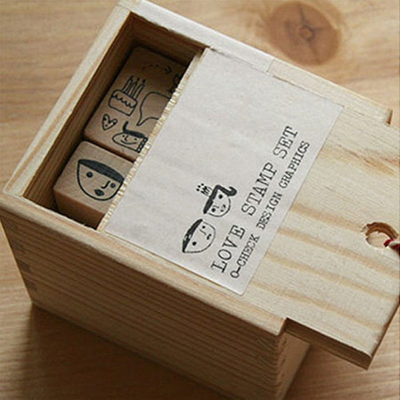 5 Set - Love Stamps Box (2.4 x 2.8in)