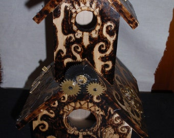 Steampunk Bird house