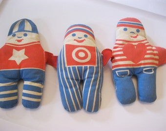 Crib Toy, Dolls, Rattle, Baby, Johnson & Johnson, Blue and Red, Boy