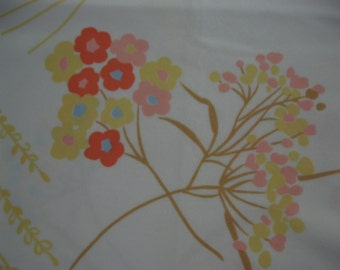 Vintage Fabric , Floral, Flowers, Stylized, Mod