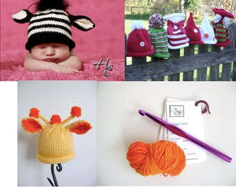 Top 3 Knitted Noggin Patterns - Plus a FREE Gift - Great Photo Props