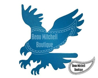 Eagle fill stitch embroidery design