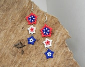 Red, White, and Blue Star Earrings 1