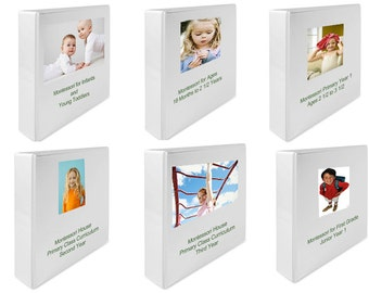 Montessori Teaching Albums Curriculum Set for Infant thru 1st Grade