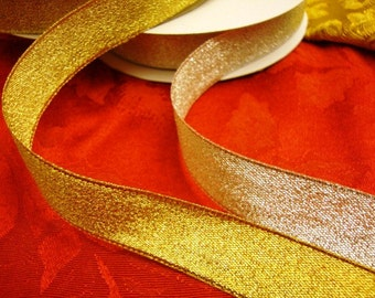 "22 yards 3/4"" width Gold and Silver Metallic Ribbon trim"