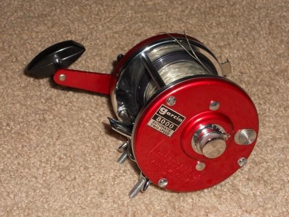 Abu garcia 8000 ambassadeur 2 speed fishing reel vintage mint for Ambassadeur fishing reel