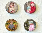 Personalized Custom Magnet Set - Personalized With Your Own Picture or Sayings - Set Of 4 - 1.5 inch Magnet Set  001PM