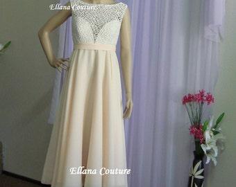 Sample SALE. Katherine - Vintage Style Tea Length Bridal Gown.