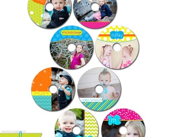 INSTANT DOWNLOAD - Cd/DVD Label Photoshop templates - set of 8 - 0850