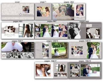 INSTANT DOWNLOAD - 12x12 Wedding Album template - Classic Neutral - 0365 FA