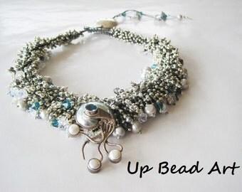 Rock Garden Necklace with Aquamarine
