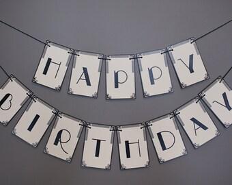 Art Deco Banner: Happy Birthday