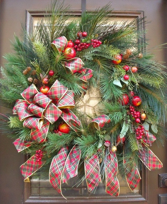 XL Williamsburg Wreath Traditional Christmas Wreath By