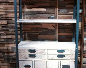 Bookcase Storage Reclaimed Oak (Handmade)